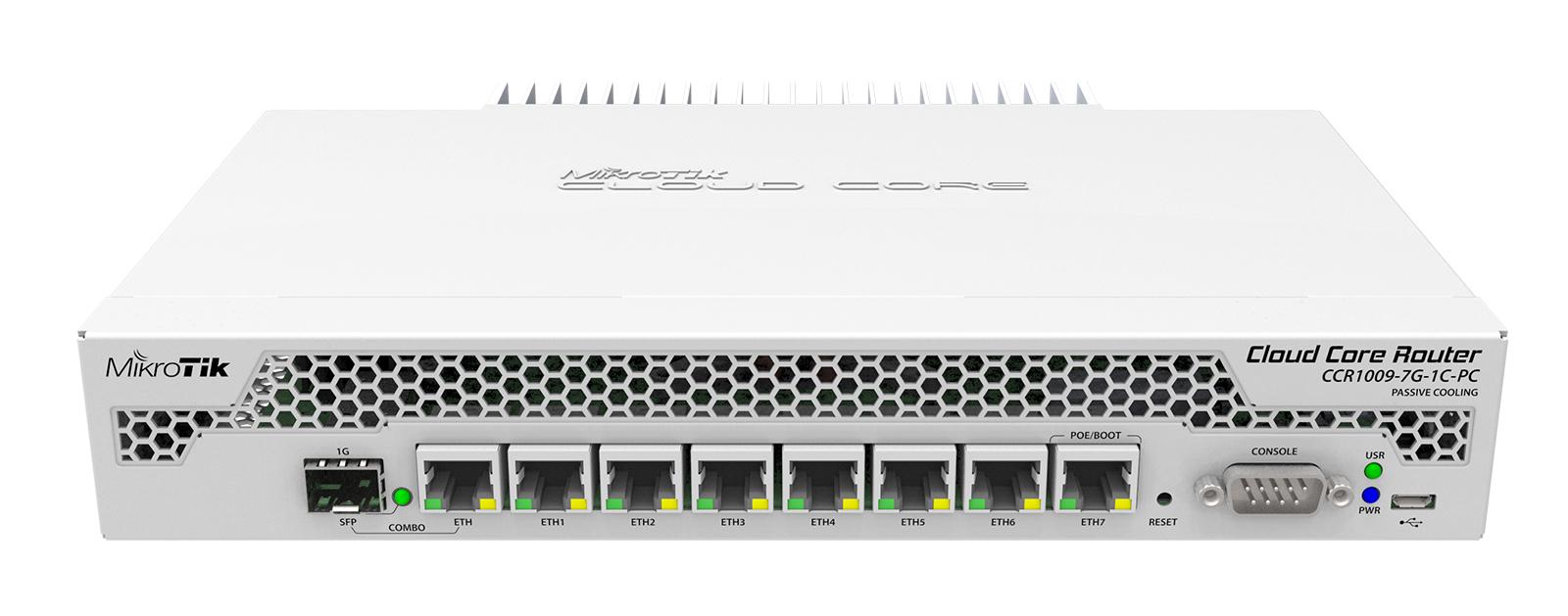 Mikrotik Routerboard Rb1100ahx2 Cloudcorerouter Ccr1009 7g 1c Pc 7x Ge 1x Combo Usb