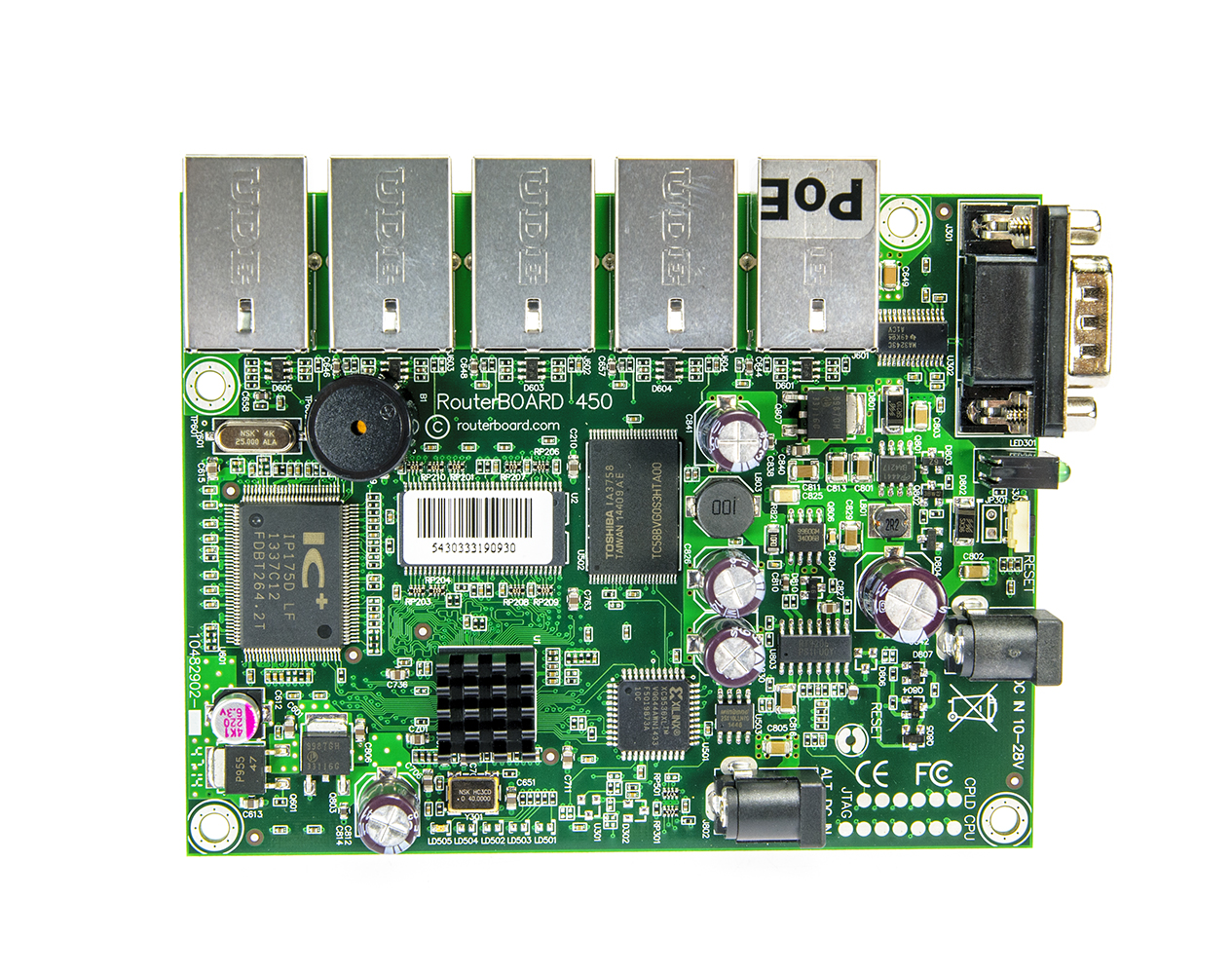 Mikrotik Routerboard Rb750gr3 Hex R3 Rb450 5xlan 0xminipci 32mb Sd Ram E 64mb Flash